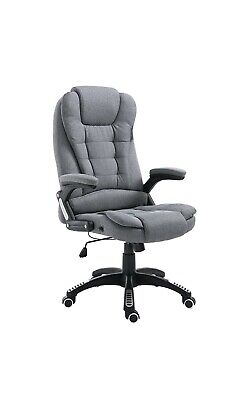 Cherry Tree Furniture Executive Recline Extra Padded Office Chair (Grey Fabric) • 150£