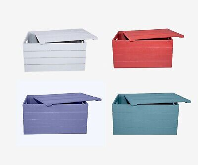 £9.99 • Buy Wooden Crate With Detachable Lid Storage Box Gift Hamper Retail Shelve Box