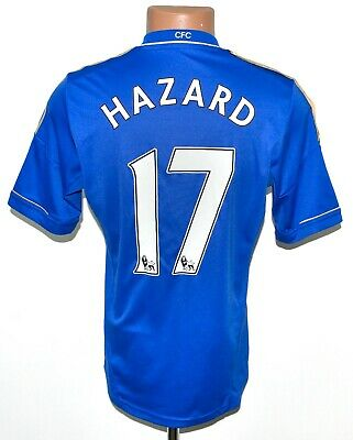 Chelsea London 2012/2013 Home Football Shirt Jersey Adidas #17 Hazard Size S • 54.99£