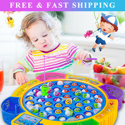 £13.11 • Buy Electric Music Rotating Magnetic Fish Fishing Plate Game Kids Educational Toy LT