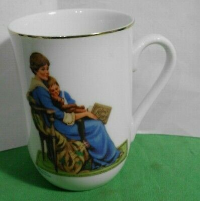$ CDN4.38 • Buy Vintage Norman Rockwell Museum Collection 1982 Coffee Cup Mug  Bedtime