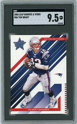 $49.99 • Buy 2004 Tom Brady Leaf Rookies & Stars #56 Sgc 9.5  -psa Comp- (3383)