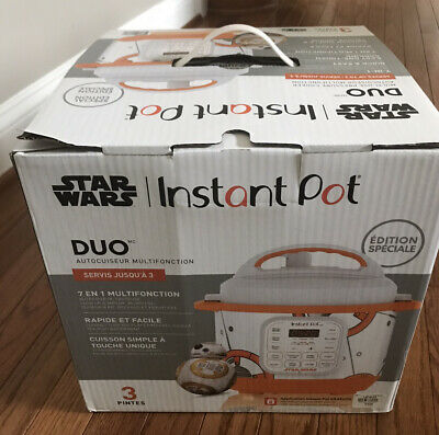 $ CDN150.72 • Buy Star Wars Instant Pot Limited SPECIAL EDITION 3 Quart New BB-8 GREAT GIFT