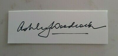 AU7.50 • Buy Ashley Woodcock Cricket Signed In Person  Neat Card England Ashes Australia