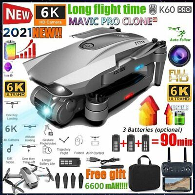 AU245.99 • Buy Foldable 5G 6K GPS Drone X Pro With HD Dual Camera Drones WiFi FPV RC Quadcopter