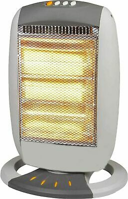 £24.99 • Buy 1200W Halogen Heater Instant Portable Electric Oscillating 3 Bar Home Office UK