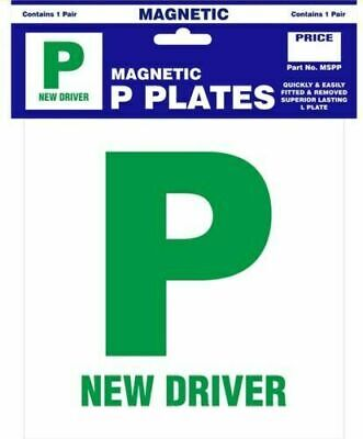 2 X MAGNETIC PASSED PASS NEW DRIVER GREEN P PLATE PLATES  • 2.50£