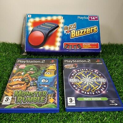 £26.99 • Buy Buzz! Quiz Game Buzzers Boxed Sony PlayStation 2 PS2 & 2 Games