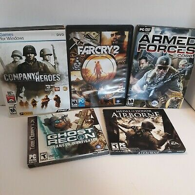 AU25.19 • Buy 5 PC Games Ghost Recon Medal Of Honor Company Of Heroes Farcry 2 Armed Forces