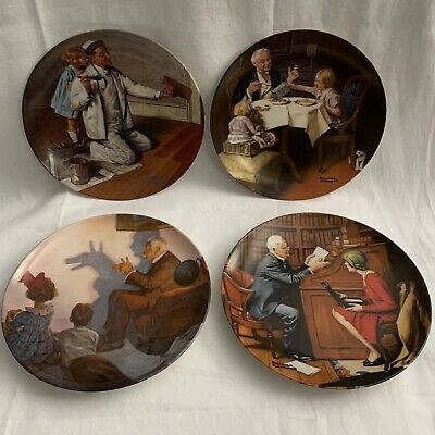 $ CDN15.56 • Buy Lot Of 4 Norman Rockwell Heritage Collection Plates Fine China Numbered
