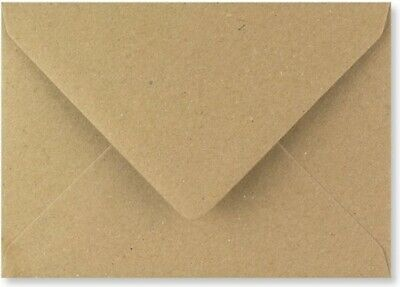 AU6.77 • Buy C5 BROWN KRAFT Coloured Envelopes-Party Invitations Craft Greeting Card X 25