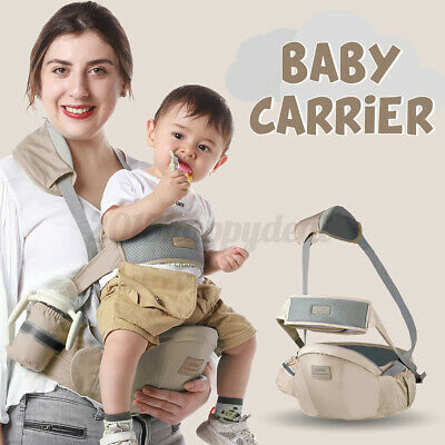 Adjustable Infant Baby Carrier Wrap Sling Hip Seat Newborn Toddler Waist Stool • 14.99£