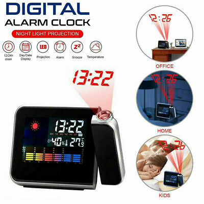 AU12.99 • Buy Smart Digital LED Projection Alarm Clock Time Temperature Projector LCD Display