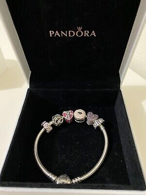 AU275 • Buy DISCOUNTED!Genuine Pandora Bracelet With Genuine Charms. A Gift Never Been Worn.