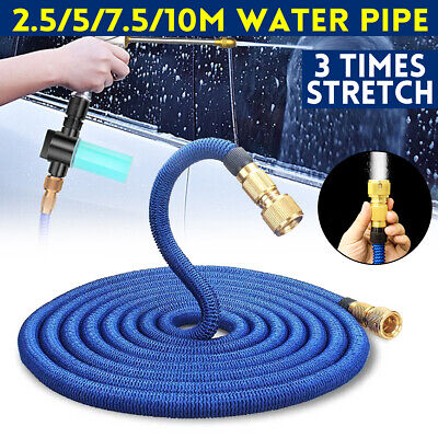 25Ft-100Ft Expandable Flexible Garden Water Car Washing Hose Pipe Retractible • 18.69£