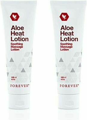 £21.99 • Buy ✨2 ✖ Forever Living Aloe Heat Lotion Soothing Massage Lotion 118ml Original 💥