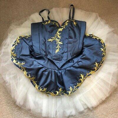 BEAUTIFUL PROFESSIONAL HANDMADE COMPETITION  BALLET  TUTU AGE 14-16 Includes Bag • 120£