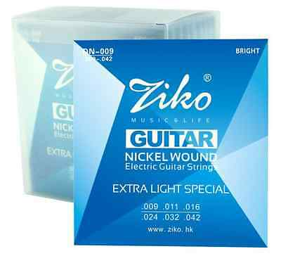 $ CDN4.65 • Buy 1 X Set High Quality Ziko Nickel Wound Electric Guitar Strings Gauges 09-10