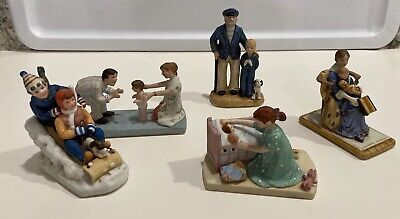 $ CDN18.83 • Buy Norman Rockwell Museum Figurines LOT OF FIVE, Little Mother, Bedtime,+ 3 Others!