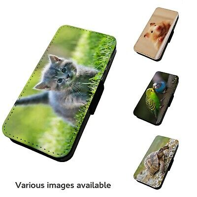 Printed Faux Leather Flip Phone Case For IPhone - V1 Various Pets Animals • 9.75£