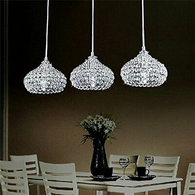 Modern Crystal Pendant Lighting | Ceiling Chandelier Lamp | Set Of 3 • 126.99£