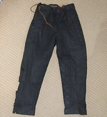 Vintage BELSTAFF Waxed Cotton Motorcycle Trousers Excellent 32  • 74.99£