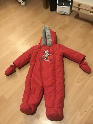 £6.99 • Buy Baby Girls BHS Disney Minnie Mouse Pink Snowsuit All In One Age 9-12 Months VGC