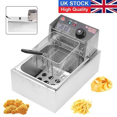 £46.99 • Buy 10L 2500W Commercial Electric Deep Fryer Fat Chip Single Tank Home Kitchen