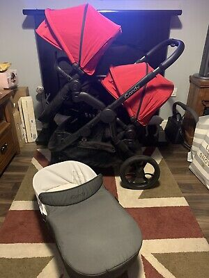ICandy Orange Double Pram Pushchair Package Red Stunning 2019/2020 • 499.99£