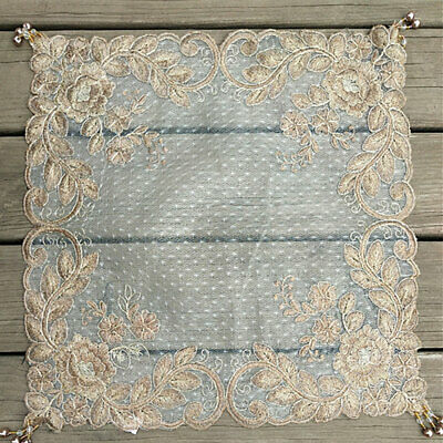 AU12.48 • Buy Square Lace Table Cover Dining Doily Floral Embroidery Sequin Party Home Decor