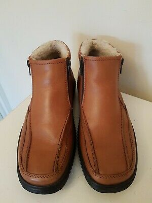 Pavers Mens Leather Boots Wool Lined  Worn Once So Excellent Condition Size 41 • 17.99£