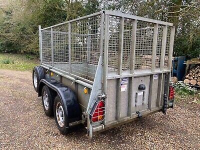 Ifor Williams GD84 Cage Mesh Side Single Axle Trailer Ramp Tailgate.  • 1,850£