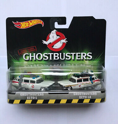 Rare Hot Wheels Ghostbusters Ecto-1 & Ecto-1A Die-Cast Car Twin Pack 1:64 New • 44.99£