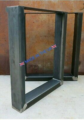 LIVE EDGE RIVER TABLE  Legs Pair Industrial Bespoke Metal Table Legs Steel  • 190£