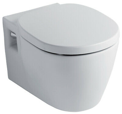 Ideal Standard Concept Wall Hung Wc Toilet Pan With Soft Close Seat 2in1 Set • 409£