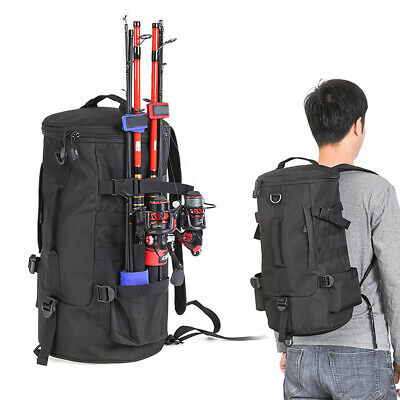AU37.39 • Buy Fishing Tackle Bag Pack Shoulder Waist Waterproof Boxs Reel Lure Gears Storage