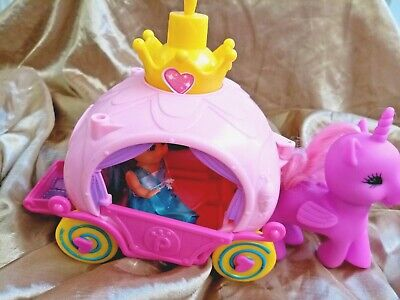 Princess Carriage , With Princess And My Little Pony Unicorn • 6.99£