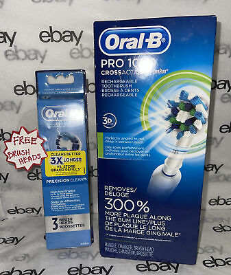 AU47.95 • Buy Oral-B Pro 1000 Crossaction 3D Action Rechargeable Electric Toothbrush Free Gift