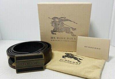 Burberry Leather Belt Made In Italy Size 40/100 • 71.47£