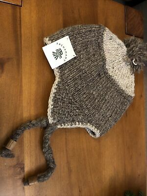 Pachamama Unisex Fairisle Trapper Hat 100% Wool Brand New With Tags • 7.95£