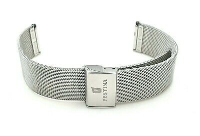 Watch Strap Bracelet Festina Steel Jersey Milano 18 MM For F 20252 • 64.66£