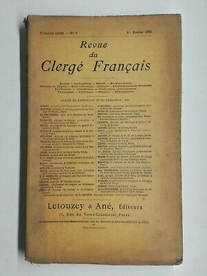 $ CDN127.58 • Buy N3 Rare Former Magazine The Clergy French First Year No ° 5 1 February 1895