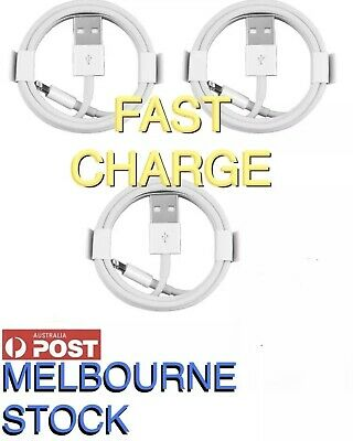 AU11.99 • Buy 3X CERTIFIED Fast USB Cable Charger For Genuine Apple IPhone 5 6 7 8 11 IPad 1M