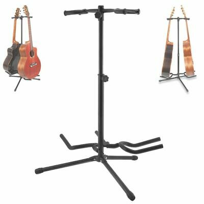 $ CDN80.79 • Buy Double Holders Guitar Stand Aluminum Alloy Floor Stable Tripod For Display 2pcs