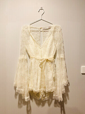 AU85 • Buy Alice McCall, White Dress, Size 6, Classic Design, Playsuit