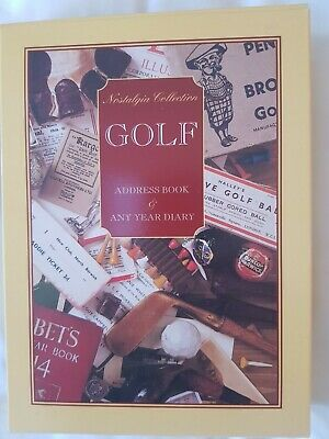 £5.99 • Buy New - Hardback Golf Themed Address Book And Any Year Diary Double Pack