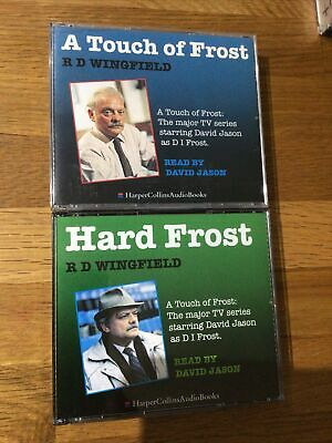 Two R D Wingfield Audiobooks - A Touch Of Frost & Hard Frost Read By David Jason • 19.99£