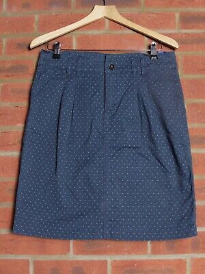 White Stuff Blue Polka Dot Skirt Size 10 • 10£