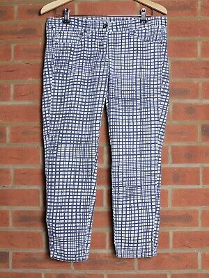 £10 • Buy Great Plains Yoyo Checked Cropped Slim Jeans Size 14