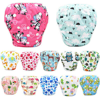 AU8.99 • Buy Reusable Swim Nappy Baby Cover Diaper Pants Nappies Swimmers Newborn To Toddlers